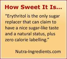 Erythritol - a Sweetener with Antioxidant Benefits